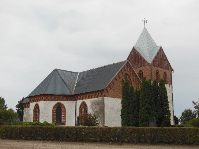 Odarslöv church in rural Sweden
