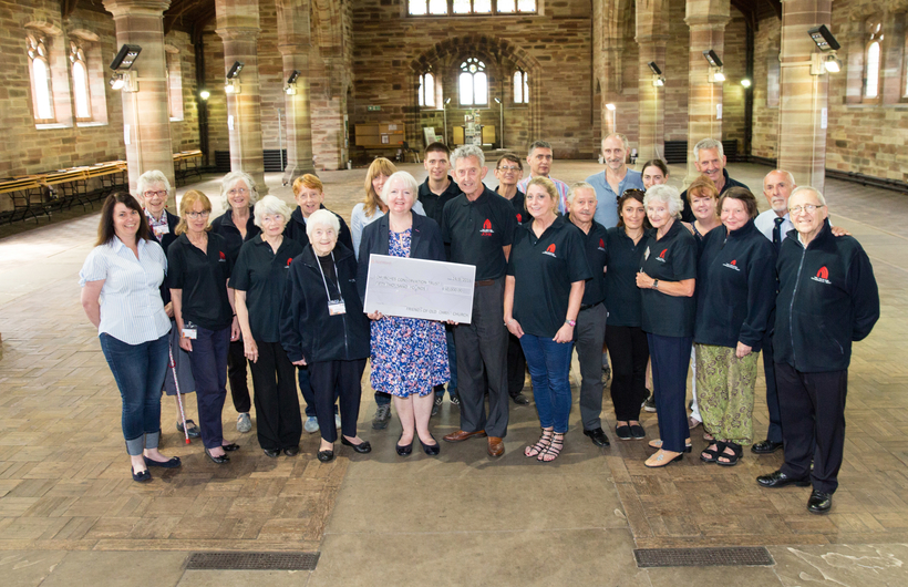 Christ Church Waterloo cheque presentation