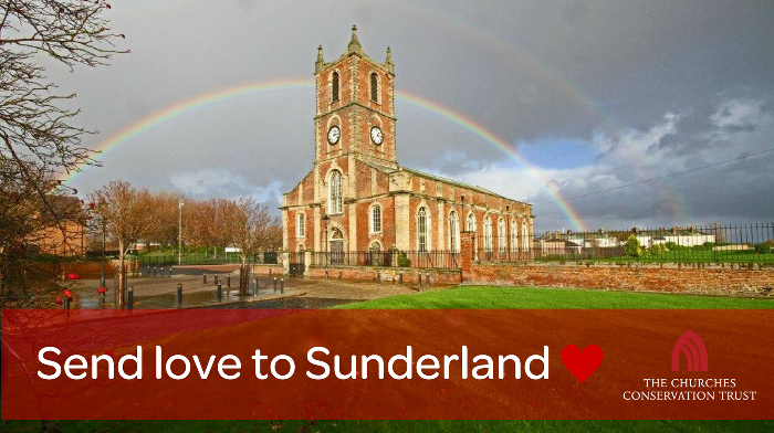 The Holy Trinity church in Sunderland is at serious risk of collapse